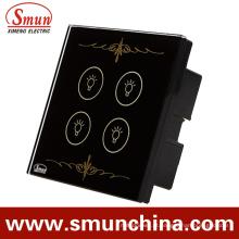 Interruptor da parede de 4 grupos, interruptor do tounch, interruptor de controle remoto