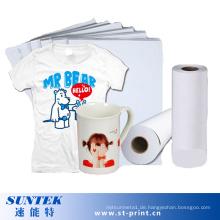 A4 Größe Heat Press Sublimation Transferdruckpapier für Tassen