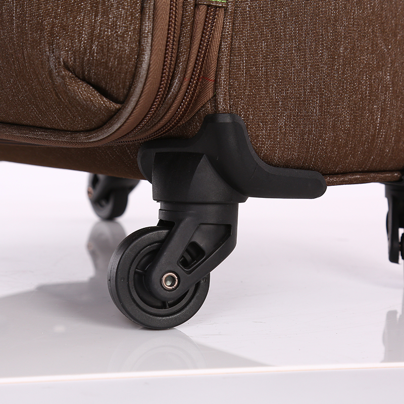 Waterproof brown fabric trolley luggage 5