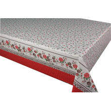 Pvc Printed fitted table covers Runner Gauze