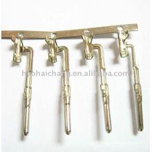 Bornes de connecteur d'agrafe de fil bobiné par laiton spécial de nickel placage