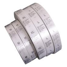 Custom White Textile Taffeta Ribbon Garment Wash 100% Polyester Care Label for Clothing