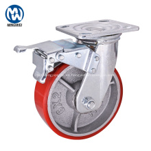 Ruedita de hierro fundido de 6 pulgadas para trabajo pesado