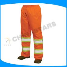100% poliéster calças de segurança reflexiva