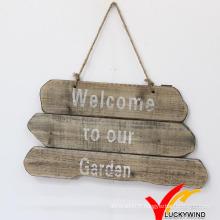"""""""Bienvenue dans notre jardin"""" Ferme faite à la main Vintage Vintage Wood Sign"""