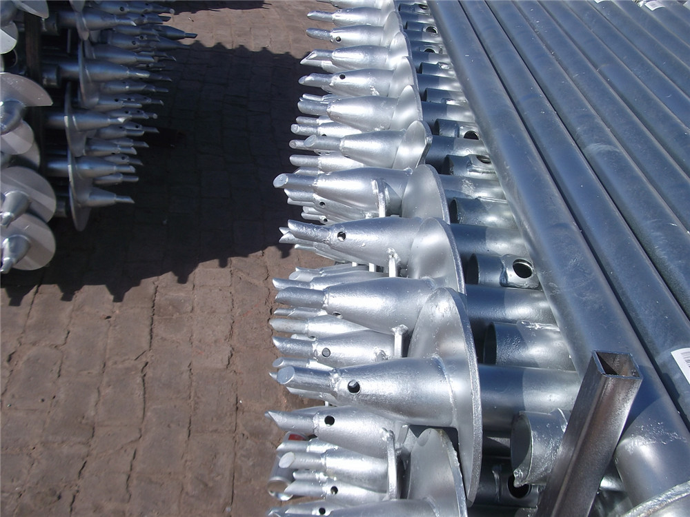 helical ground screw piles