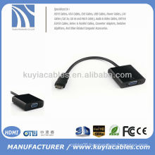 1080P Black HDMI to VGA Converter Adapter Cable for PC DVD HDTV