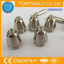 Soldadura corte plasma corte antorcha de recambio AG60 SG55 boquilla de corte