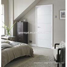 Flush wood white paint bedroom door