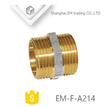 EM-F-A214 NPT male thread brass equal adapter pipe fitting