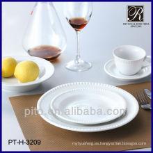 30 piezas de porcelana fina diseño de la elegancia vajilla conjunto