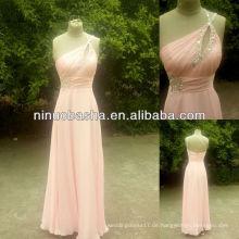 NW-379 ein Schulter-Chiffon- Rock-Abend-Kleid