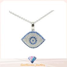 El buen diseño y la manera 925 ojos de plata diseñan la joyería pendiente (P5055)
