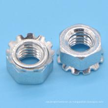 Aço macio Keps Nut com zinco chapeado (CZ139)