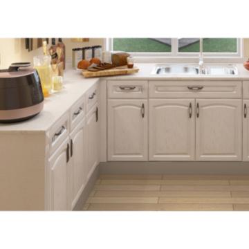 Armários de cozinha modernos abertos e minimalistas azuis