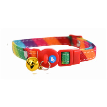 Polyester Webbing Custom Safety Cat Collar Breakaway Buckle Cat Collar Bells