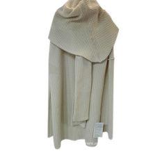 Chaqueta de punto de cachemira de manga larga de alta calidad de las mujeres, abrigo de cachemira mongol