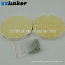 Bac à feu dentaire rond en nid d'abeilles (épingles en céramique) / Laboratoire dentaire