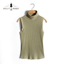 New Arrival Spring Knitted Mint Sleeveless Women Vest