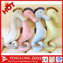 Hgh quality soft sea horse body animal plush sleeping pillow