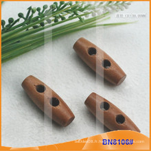 Bouton Toggle en bois naturel naturel pour les vêtements BN8106