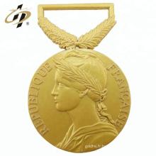 2018 nouveau design antique médaillon en or 3D en métal pour souvenir