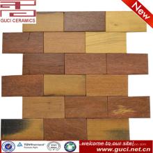telha de mosaico rústica da parede da loja da telha do assoalho do olhar da madeira maciça