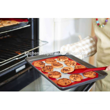 China Fabricante profissional Grade alimentar resistente ao calor Reutilizável Non-stick Fiberglass Silicone Baking Mat for Forno