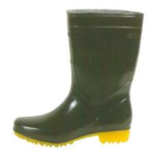 Black Men's Oil Resistant Pvc Working Boots