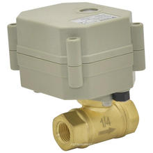 OEM 2-Wege-Elektro-Wasser-Ventil Motorisiertes automatisches Wasser-Absperr-Messing-Ventil (T8-B2-C)