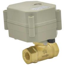 OEM 2 Way Electric Water Valve Motorized Automatic Water Shut off Brass Valve (T8-B2-C)