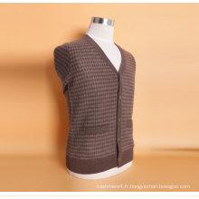 Yak Wool / Cshmere V Neck Cardigan à manches longues / Vêtement / Vêtements / Tricots