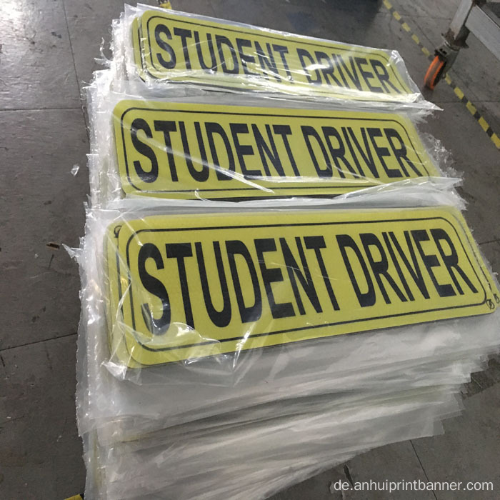 Magnet Student Driver Car Sticker