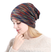 3 Colors choise fashion womens knitting cap pony tails winter knitted hat