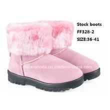 Mais recentes botas de injeção botas mid-bezerro botas de neve confortáveis sapatos de inverno botas de estoque (ff328-2)