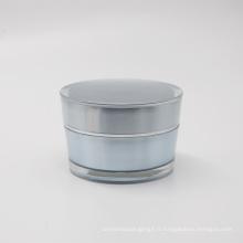 usine directe double ronde 50g acrylique en plastique pots cosmétiques emballage