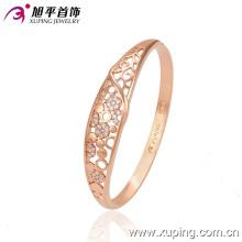 Nova moda rosa ouro cor delicado zircão bracelete