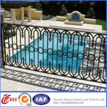 Pulverbeschichteter dekorativer Schmiedeeisen-Pool-Zaun