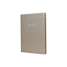 SHBC Factory Customized fashion PU  A4 size leather menu/Bill folder, hotel menu folder for bars, restaurant