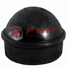 Black PVC Coated Fence Post Cap