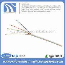 1000FT Cat5e UTP сплошной белый сетевой кабель Ethernet Cat5 Bulk Wire RJ45 Lan Cable Box