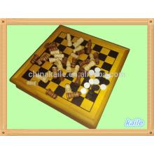 5 in 1 Spiel set Großhandel Multi Schach Set Pack in Holzkiste