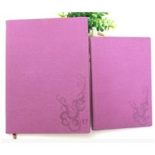 Cuaderno de cuero de PU de imitación de negocios, cuaderno de cuaderno rojo impreso cuadrícula