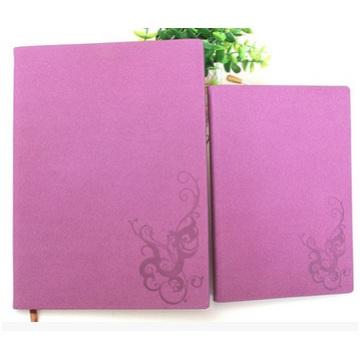 Cahier d'unité centrale de cuir d'imitation d'affaires, grille imprimée de carnet de couverture rouge