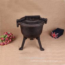 camp cook set metal cauldron dutch pot