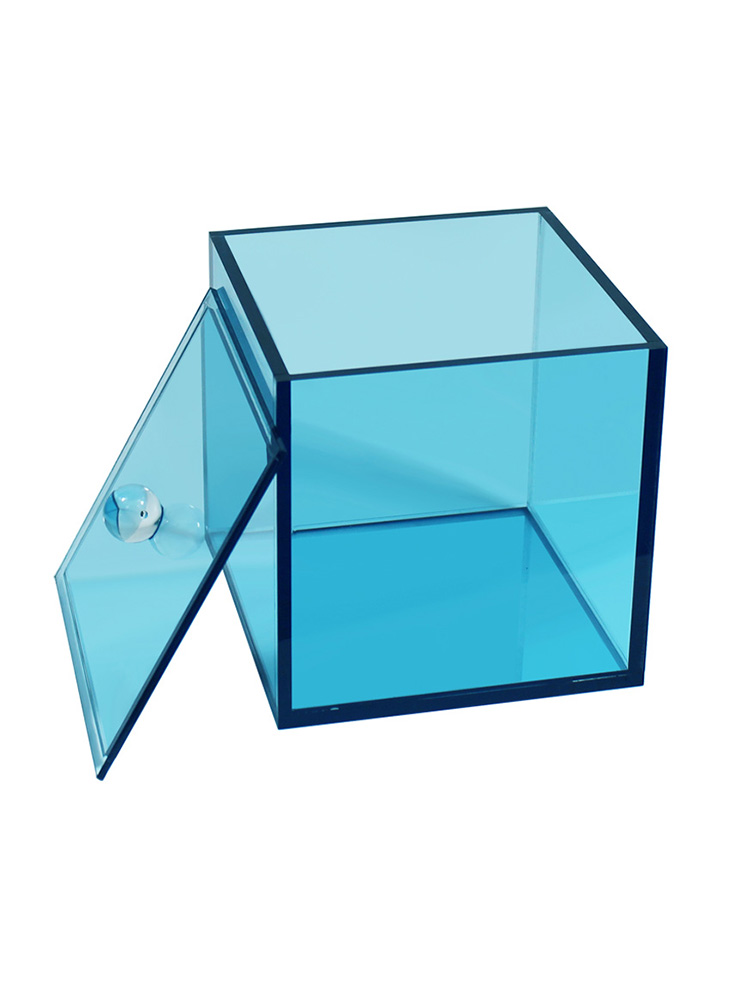 Acrylic Canister With Lid Blue