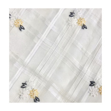 high quality 100% polyester woven fabric thread floral embroidery  fabric for women skirts