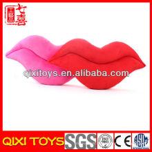 Подгонянный Логос прекрасные и милые губы shaped плюшевые подушки