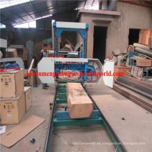 El corte de madera diesel portátil vio la máquina de sierra de banda horizontal Mj1300d