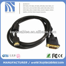 HOT SALE DVI TO HDMI CABLE AVEC ADAPTATEUR AUDIO 3M